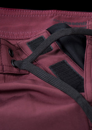"17"" Burgundy Straight Leg Premium Board Shorts"