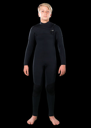 needessentials kids 4/3 chest zip wetsuits