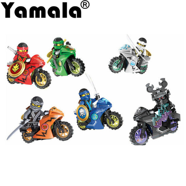 Hot Ninja Motorcycle Building Blocks Bricks toys Compatible Ninja Toys for kids gifts