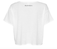 Cropped Logo Tee - White
