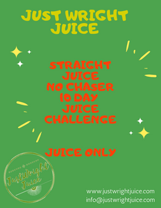 Straight Juice NO Chaser- 10 day juicing challenge (ebook) - JUSTWRIGHTJUICE