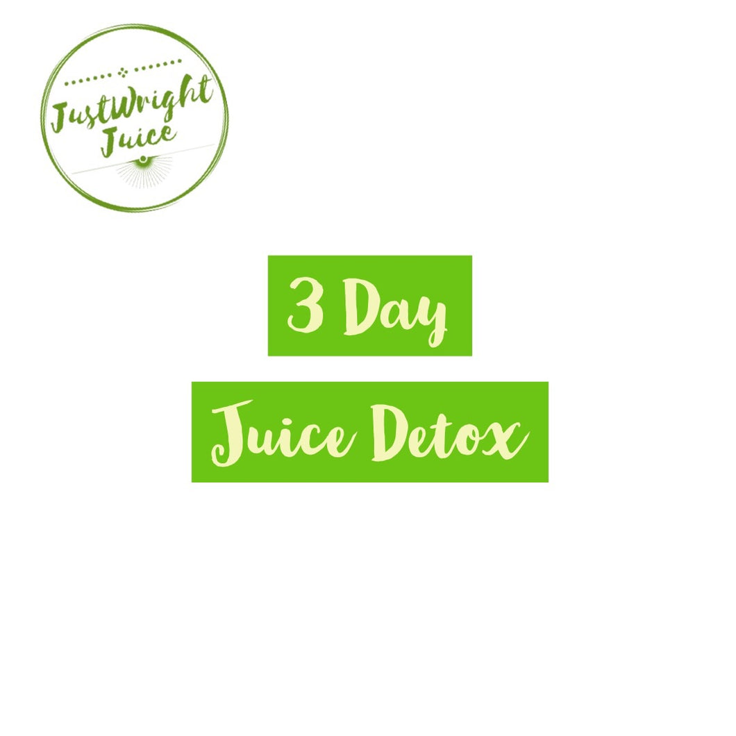 3 Day Juice Detox - Juice and Raw Food Cleanse - JUSTWRIGHTJUICE