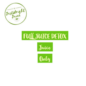 3 Day - Fully Juiced (no Food) - JUSTWRIGHTJUICE