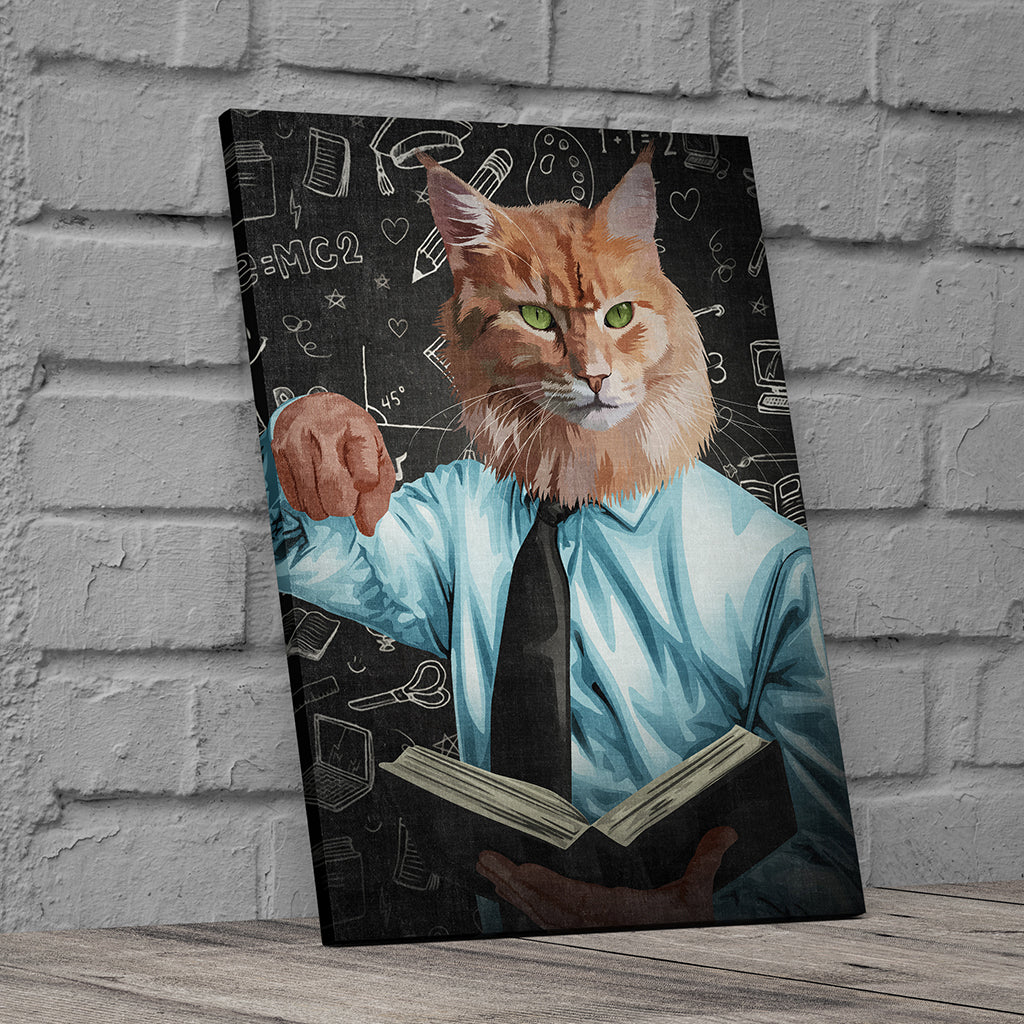 Professor Custom Canvas Wall Art