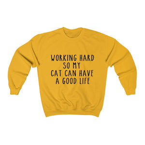 Funny Cat Lovers Crewneck Sweatshirt