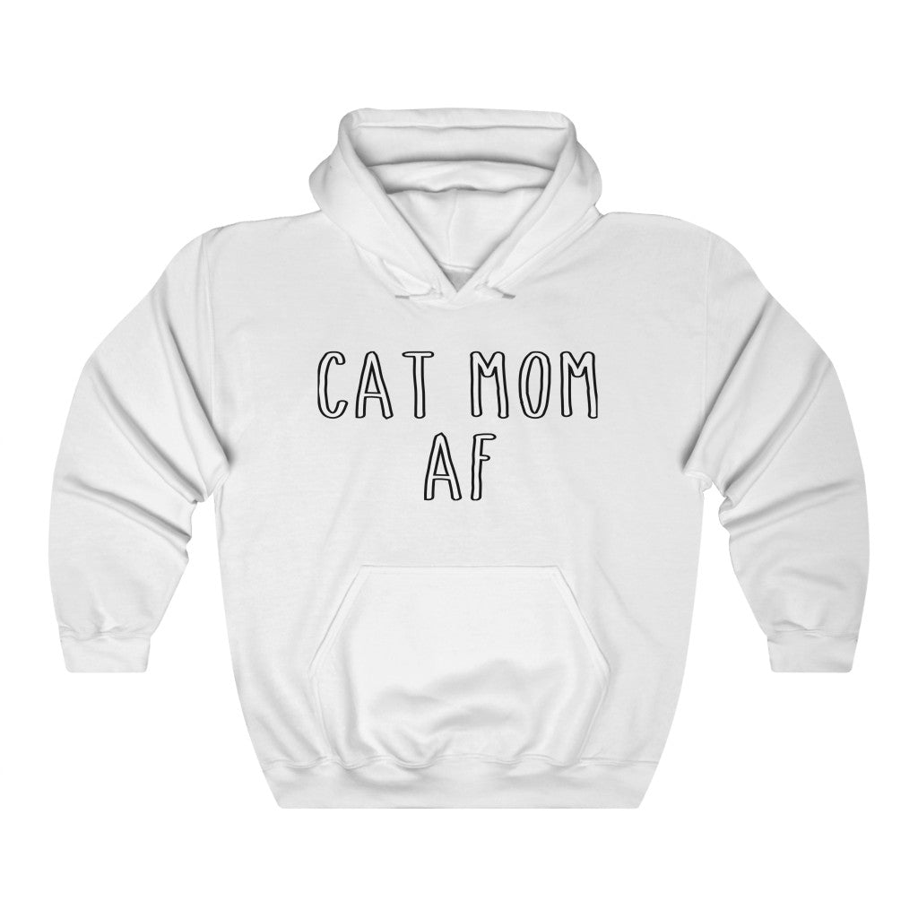 Cat Mom AF Hooded Sweatshirt