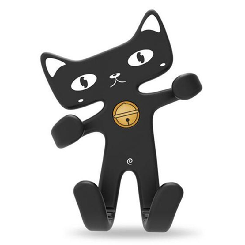 Cute Cat Black Mobile Phone Holder