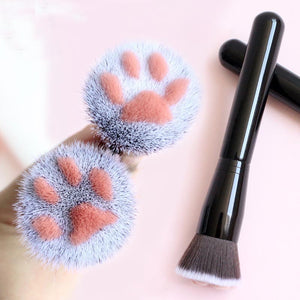 Cute Kitty Cat Paw Make Up Powder Brush