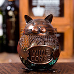 Kitten Wine Cork Container