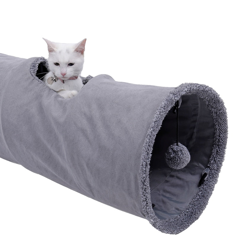Collapsible Cat Tunnel With Ball