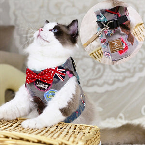 Jacket Leash Bow Tie Vest Harness