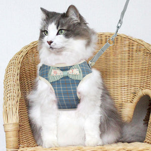 Premium Bow Tie Cat Harness