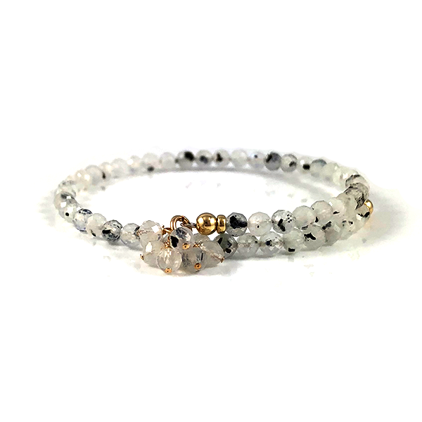 Gemini Birthstone Moonstone Bangle Bracelet