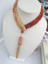 Handmade Carnelian 108 Mala Necklace with Tassel