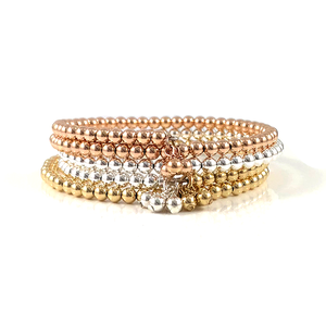 Gold Bead Bangle Bracelet