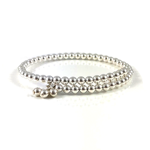 Sterling Silver Bead Bangles