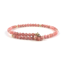 Rhodochrosite Bangle Bracelet
