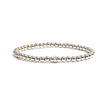 Aries Birthstone Diamond White Gold Stretch Bracelets