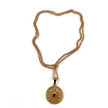 Cancer Gold Zodiac Medallion Necklace 28""