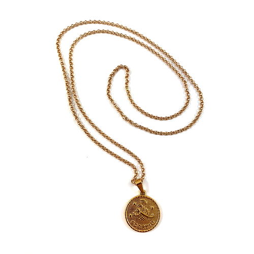 Scorpio Gold Zodiac Medallion Necklace 28