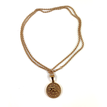 Virgo Gold Zodiac Medallion Necklace 28""