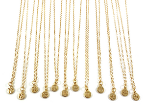 Delicate Gold Zodiac Pendant Necklaces 16""