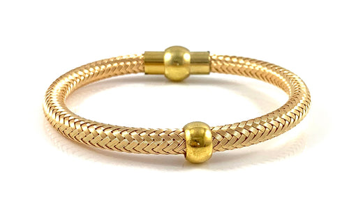 Handmade Italian Gold Bangle Bracelet