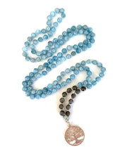 Aquamarine Tree of Life Necklace