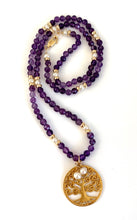 Amethyst Pearl Tree of Life Necklace