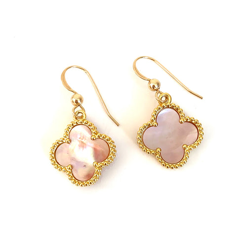 Pink Mother of Pearl VC Earrings