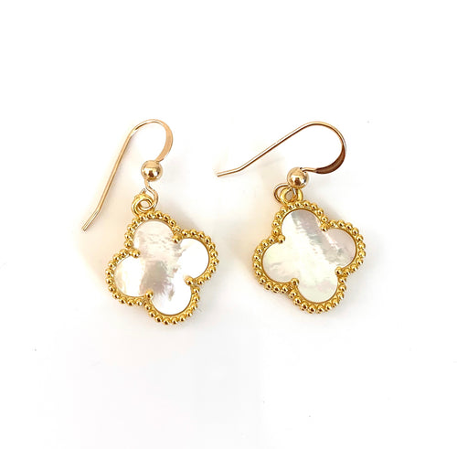 White Mother of Pearl VC Earrings