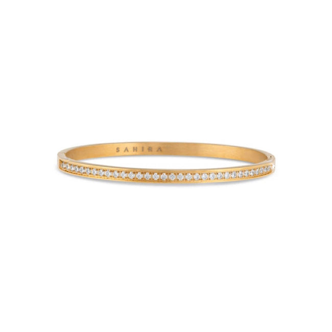 LARA PAVE GOLD BANGLE