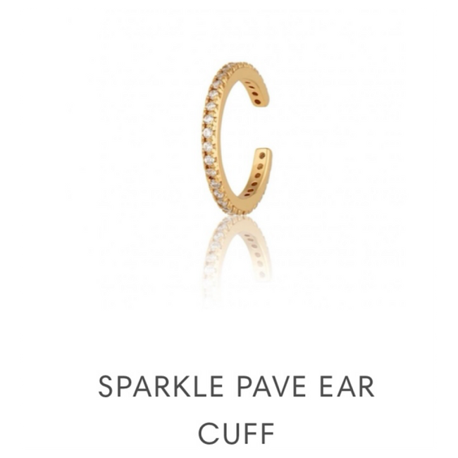 SPARKLE PAVE EAR CUFF