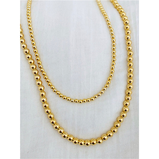GOLD BALL NECKLACE-LARGE
