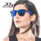 Women Sexy Rimless Square Frame Sun Glasses