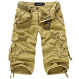 casual multi pocket camouflage male shorts
