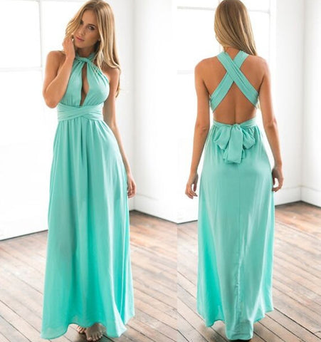 Sexy Women Wrap Maxi Dress