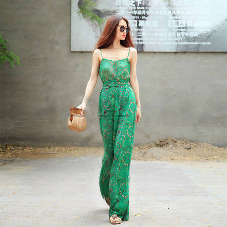 summer chiffon women beach wear bodysuit