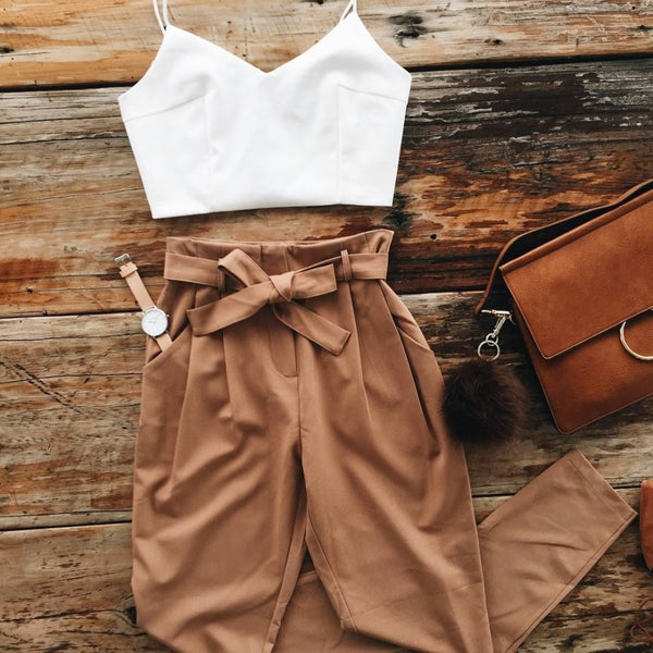 Spring Summer Women Two Piece Outfit