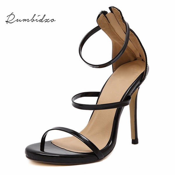 Rumbidzo  Women Pumps High Heels Ladies Sexy Lace Up Gladiator Sandals Thin Heeled Gladiator Shoes Zapatos Mujer Shoes Woman