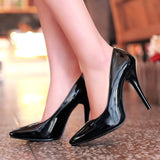 Lasyarrow Brand Shoes Woman High Heels Women Pumps Stiletto Thin Heel Pointed Toe Patent leather Zapatos Feminina Shallow RM040