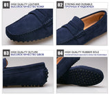 Men Casual Cow Suede Leather Loafers