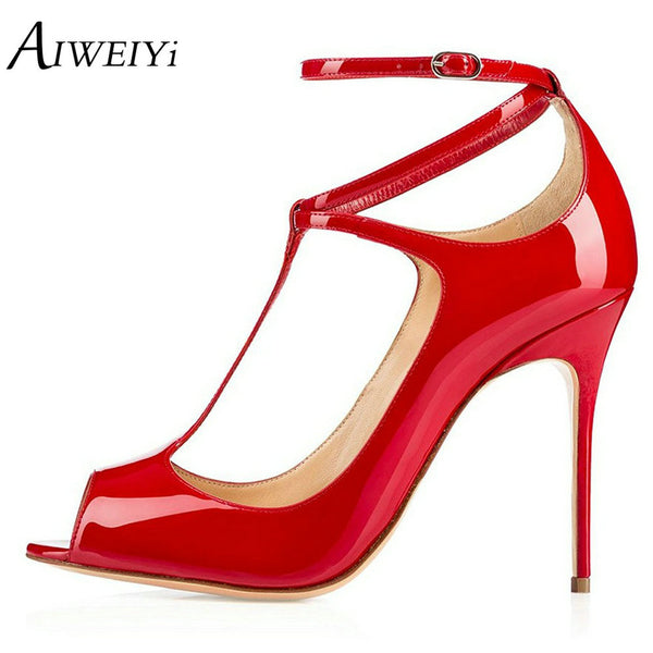 High Heel Open Toe Ankle T Strap Platform Shoes
