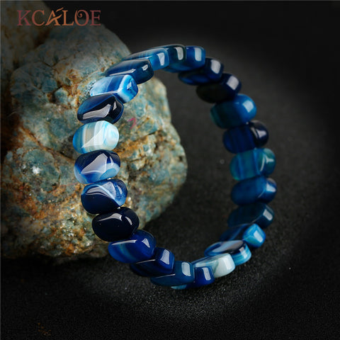 Luxury Blue Onyx Agat Bracelets For Women