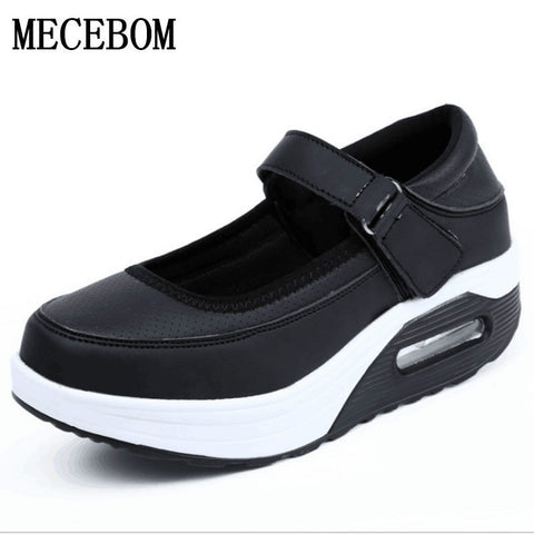 2018 shoes Women Shoe Inside Increasing High Casual Woman Ladies slim Flats Shoes footwear Sale 2969W