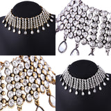 Crystal Rhinestone Metal Choker For Women