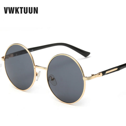 Oversized Retro Round Sunglasses for Women
