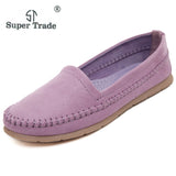SUPER TRADE Soft Women Flats New Sweet Shoes Students Trade Large Size 35-40 Flat Shoes Boat Shoes Woman Ladies Casual Shoes
