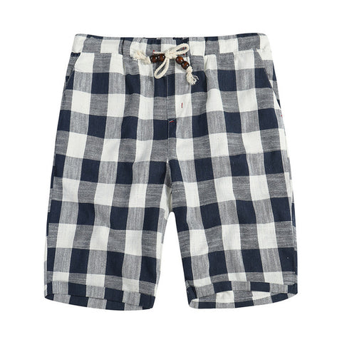 Men's Fashionable Casual Bermuda Plaid Shorts