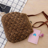 Mini Hollow Out Straw Bag For Women